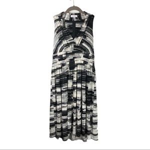 Calvin Klein Black and White Patterned Dress Sz 8